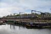 Narrowboats Meet Bullet Trains 02 - Blue Javelin (eibonvale) Tags: stpancras stpancrasbasin london train railway canal narrowboats bullettrain waterway