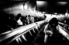 (steven:s) Tags: street japan tokyo city bw ricoh gr subway