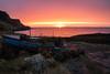 Gone fishing (Limned Light Photography) Tags: fishing skye old sunset sea scotland boat