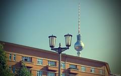 Rosa-Luxemburg-Platz (Jenke-PhotozZ) Tags: architecture architektur art berlin mitte fernsehturm perspective laterne germany hauptstadt himmel vignette volksbühne motive