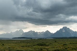 die Tetons von der Jackson Lake Lodge