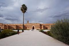 El Badii Palace, Marrakech, Morroco (mattk1979) Tags: marrakech morroco arab northafrica sun outdoors sky clouds city buildings old historic elbadii palace courtyard garden water kasbah