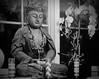 The Buddha & The Christ (the mindful fox) Tags: buddha christ statue devotion orchid monochrome religion contemplation meditation crucifix cross