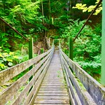 Wooden bridge to nowhere near Schwoich, Tyrol, Austria thumbnail