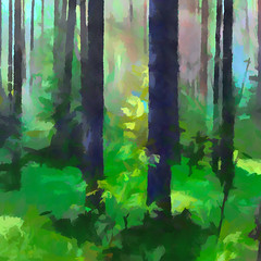 Vernal Forest (Kalev Vask.) Tags: digital kalevvask postprocessed photoshop photomanipulation digiart photoart painterly artistic creative estonia spring manipulated ownphoto phototopainting trees 2018 forest topazstudio