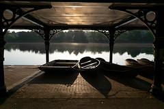 Lake at Dawn (nafenic) Tags: nikon d5300 dslr kitlens 1855mm roathpark cardiff southwales dawn sunrise boats lightroom
