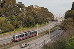 MUNI Nr. 1457 San Jose Avenue (Bus und Bahn by SF) Tags: sanfrancisco muni lrv breda skyline munimetro tram streetcar strassenbahn stadtbahn