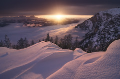 Heaven on Earth (Bruno Pisani) Tags: snow mountain sunset winter light fog landschaft water sky red nature blue tree green white night flowers art clouds landscape trees christmas new orange autumn me photoshop cool history paysage f28 silhouette national long flickr texture