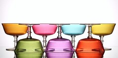 Sorbet (Karen_Chappell) Tags: glass glasses pastel white green purple red blue yellow orange pink colourful multicoloured stilllife colours colour product color seven 7