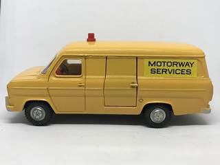 Dinky Toys England - Number 417 -  Moforway Services Ford Transit Van - Miniature Diecast Metal Scale Model Public Services Vehicle