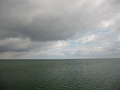restless sky, calm sea (Steffiba) Tags: usedom 2014 insel island meer sea ostsee balticsea horizont horizon weite himmel sky wolken clouds mai may germany deutschland