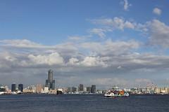美好的城市景色 IMG_110904 (Cookie Chang X 小餅) Tags: 台灣 高雄 高雄市 都市 城市 港都 港口 碼頭 高雄港 船 船隻 大船 貨輪 水 海 交通工具 canon eos 6d 哨船頭 哨船頭公園 風景 天際線 city cityskyline skyline vessel ship