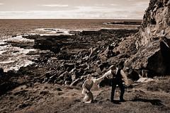 Robin & Peter (LalliSig) Tags: wedding photographer iceland snæfellsnes brúðkaup ljósmyndar brúðkaupsljósmyndari peple portrait portraiture black white gray sepia