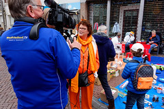 Look Mom, I'm On TV! (Alfred Grupstra) Tags: people outdoors men urbanscene women editorial street cameraphotographicequipment city equipment occupation groupofpeople kingsday