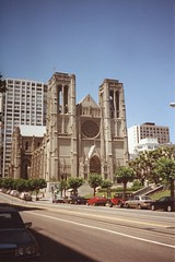 San Francisco - California - Grace Episcopal Cathedral - Historic (Onasill ~ Bill Badzo) Tags: portico vintage photo old vacation travel tourist onasill atmosphere historic nrhp artistic renaissance italian masterwork sculpture bronze italy famous door front nobhill baptistry florence paradise ghebertis lorenzo cast cathedral episcopal grace california ca francisco san window parish gold rush choir boys