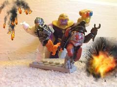 Thanos attacks mega blocks (Koala Custom Bricks) Tags: lego thanos halo legothanos