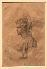 Michalangelo_Figural Group with a Woman in Bust Length in a Fantastic Headdress (the so-called Zenobia) for Gherardo Perini (Hiero_C) Tags: art drawing italian renaissance michelangelo newyork metropolitanmuseum