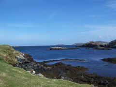 Coastline from Croir, Great Bernera, April 2018 (allanmaciver) Tags: croir crothair great bernera western isles outer hebrides blue shades shadows coastline rugged rocks seaweed walk enjoy admire quiet allanmaciver
