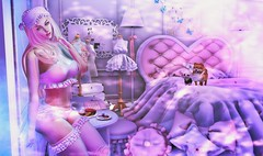 Dolly Room (clau.dagger) Tags: theepiphany secondlife gacha event candydoll kawaii decor lingerie fashion room bed uzmeposes wall poses sintiklia insol catwa slink eve birdy shai