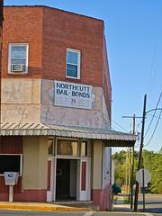 Northcutt Bail Bonds, Wadesboro, NC (Robby Virus) Tags: wadesboro northcarolina nc northcutt bail bonds sign faded entrance closed law