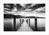 Interlude VI (Frank Hoogeboom) Tags: jetty barrowbay unitedkingdom uk lakedistrict ashnessjetty sky water landscape waterscape fineart longexposure blackandwhite blackwhite mono monochrome walkway mountain cumbria lakes british ashness bridge pier