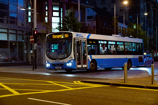 BELFAST BUSES - FOR THOSE OF YOU WITH AN INTEREST IN BUSES [NIGHTSHOT OF AN ULSTERBUS BUS]-139977