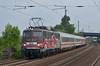 115 509 mit PBZ2453 in Porta (regiospotter-nrw) Tags: train leaf green car 115 e10 509 80 jahre pbz 2453 überführung db werbelok seltenheit