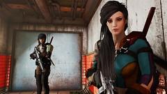 Fallout4 - Curie and Piper backup (tend2it) Tags: fallout4 fallout 4 rpg game pc ps4 xbox screenshot screenarchery reshade postprocessing injector nuclear apocalyptic future piper curie nano suit gun rifle nuka eraser enb sweetfx
