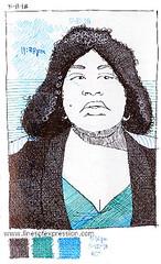 divorce court litigant 5.11.18 (KendallStudio) Tags: artwork drawings ballpoint sketchbook