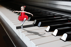Dancing on the Keyboard (ClaraDon) Tags: photoshop manipulation fantasy child keyboard piano