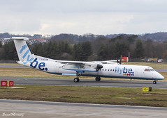 Flybe Dash-8 G-ECOM (birrlad) Tags: edinburgh edi international airport scotland uk aircraft aviation airplane airplanes airline airliner airlines airways taxi taxiway takeoff departure departing runway turboprops prop flybe bombardier dash 8 q400 gecom