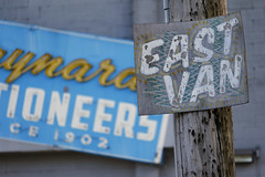 East Van (Photocatvan) Tags: vancity eastvan vancouver mountpleasant mainstreet signage neonsign morecondos