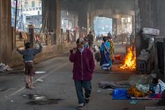 Sunday Morning - Kolkata, India (mjillster7107) Tags: fujifilm xpro1 kolkata india street fire