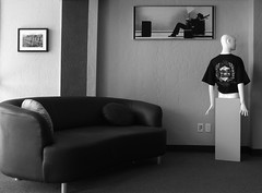 Lounge Views (jHc__johart) Tags: bw monochrome mannequin picture wall shirt couch