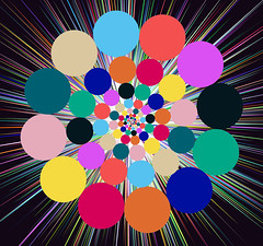 Exploding Spirograph (ClaraDon) Tags: photoshop manipulation spirograph colors