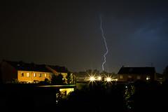Lightning (martinstelbrink) Tags: lightning blitz thunderstorm gewitter night nacht siedlung suburb germany nrw nordrhweinwestfalen niederrhein deutschland weather wetter sky himmel sony alpha7rii a7rii zeissloxia25mmf24 loxia2425 zeiss carlzeiss loxia 25mm f24 ze nature