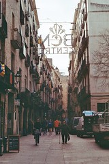 Life Between Buildings: Barcelona I (CristinaDiaconu23) Tags: analog analogue analogphotography barcelona street streetphotography barcelonaexperience beautiful city citylife people film filmphotography 35mm buildings minolta spain holiday españa kodak