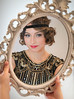 3 (shellys1peanut) Tags: mirrorimage flapper flappergirl 1920s gatsby gatsbystyle flappercostume beautiful girl doll mirror instudio