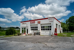 Esso (Bob G. Bell) Tags: esso servicestation gasstation clouds sky bobbell abandoned antiques store wv greenbrier