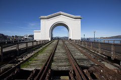 pier 43 memories (eb78) Tags: ca california sf sanfrancisco fishermanswharf pier43 ferry abandoned railroad traintracks decay portofsanfrancisco
