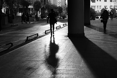 Shadow (K.BERKİN) Tags: woman walk way reflection turkey human people street streetphoto streetphotograpy sony6300 shadow dark life light blackwhite istanbul city black nature