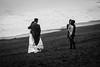 Wedding 2 (RoamingTogether) Tags: 283003563 atlanticocean blackandwhite europe iceland nikon nikond700 ocean reynisfjara tamron wedding