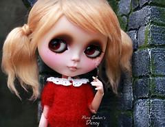 Unsettling (pure_embers) Tags: pure embers blythe doll dolls custom photography takara neo uk england girl scalp rbl pureembers nanuka cakau knit sweater smoking cigarette bad pigtails blonde