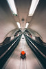 Crosshair (Aaron Yeoman) Tags: a700 lines symmetrical bankmonumenttubestation curves sonyalphadslra700 sonyalpha700 sony vignetting unitedkingdom sonyalpha urban underground travel dark metrostation tube europe sigma1020mm1456exdchsm england line city banktravolator leadinglines tubestation curve modern travelator undergroundstation londonunderground sonya700 london rapidtransit symmetry bankmonumentundergoundstation tunnel architecture railway metallic bankmonumentstation station gritty
