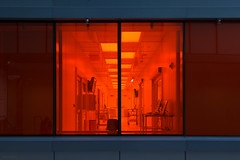 Medical Building (josullivan.59) Tags: 2018 artistic canada canon6d ontario architecture blue canonef24105mmf4lisusm color colors detail geometric interior light lightanddark medical minimalism orange red