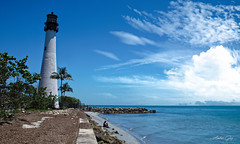 Relaxed in the lighthouse. (Aglez the city guy ☺) Tags: billbaggscape lighthouse keybiscayne miamifl seashore seascape clouds outdoors sea beach beachshore blue walkingaround waterways walking architecture afternoon