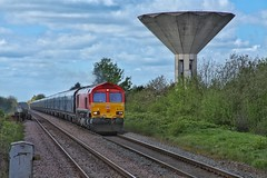Extraterrestrial Shed (JohnGreyTurner) Tags: br rail uk railway train transport 66 class66 shed ews db dbs biomass freight thornesouth yorkshire