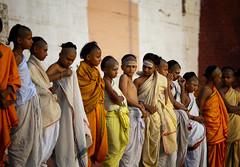 "Young Novice Hindu Monks Gather For morning Rituals In Varanasi (El-Branden Brazil) Tags: varanasi india indian ganges ganga ceremony hindu hinduism asian asia sacred holy mystical ""south asia"" sadhu"