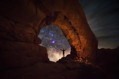 Starburst Witness (Darren White Photography) Tags: moab arches windows nightphotography sigmalenses darrenwhitephotography utah
