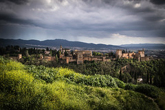 Alhambra, Granada (Adrià Páez) Tags: alhambra granada old architecture wall city hill mountains sky clouds vegetation plants muslim islamic history historical landscape andalucia spain europe españa canon eos 7d mark ii trees fortification